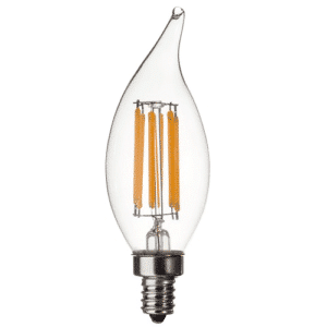 CA10 120V 6 WATT FLAME TIP LED