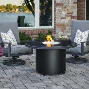 black granite fire pit