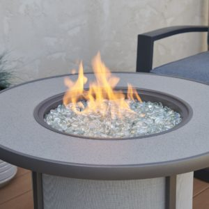 gray fire pit table