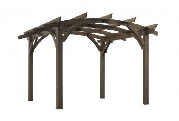 mocha sonoma wood pergola