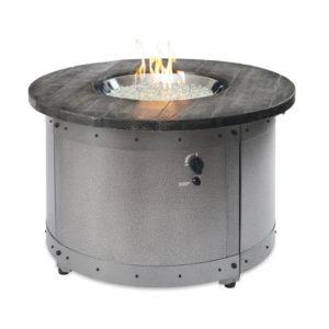 round gas fire pit