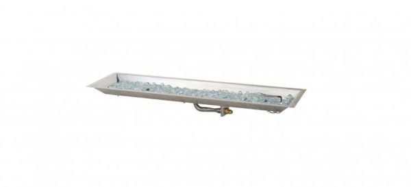 linear stainless steel burner