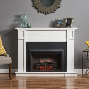 white electric fireplace mantel 36